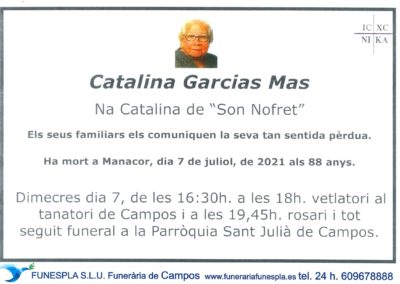 Catalina Garcias Mas 07-07-2021