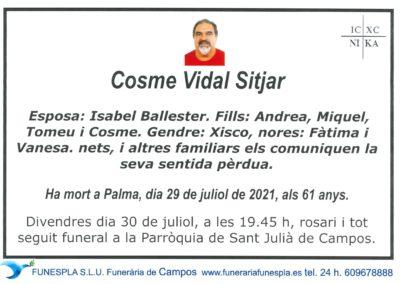 Cosme Vidal Sitjar 29-07-2021