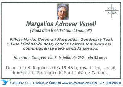 Margalida Adrover Vadell  07-07-2021