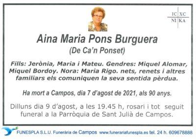 Aina Maria Pons Burguera 07-08-2021