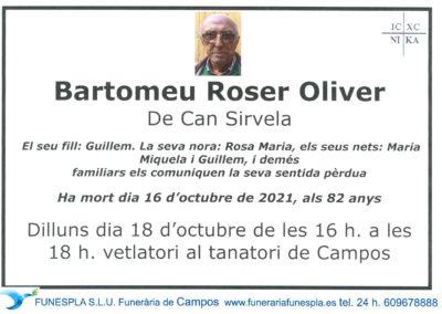 Bartomeu Roser Oliver  16-10-2021